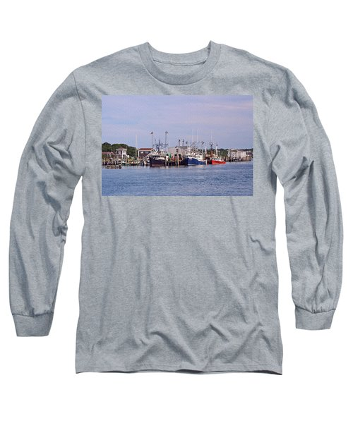 Montauk Fishing Boats Long Sleeve T-Shirt