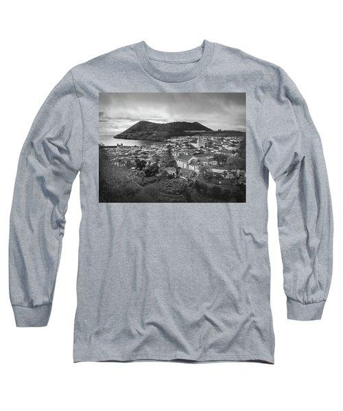 Monte Brasil And Angra Do Heroismo, Terceira Island, Azores Long Sleeve T-Shirt by Kelly Hazel