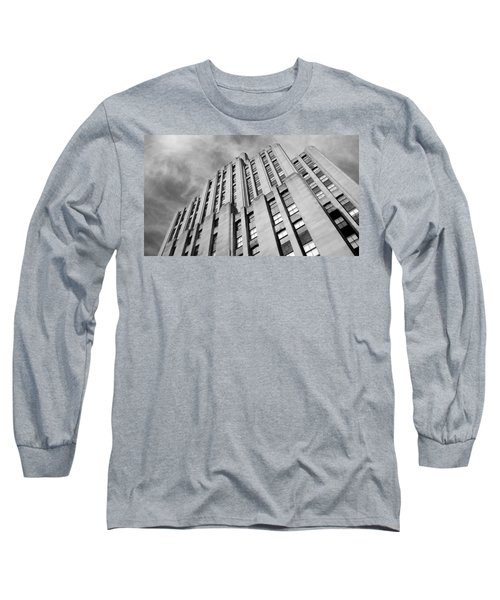 Long Sleeve T-Shirt featuring the photograph Montreal Skyscraper by Valentino Visentini