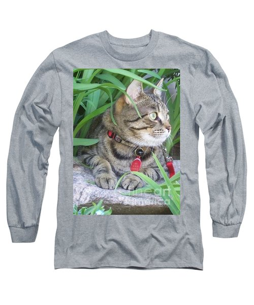 Long Sleeve T-Shirt featuring the photograph Monty In The Garden by Jolanta Anna Karolska