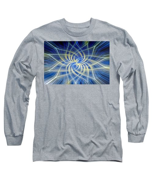 Long Sleeve T-Shirt featuring the digital art Moody Blue by Carolyn Marshall
