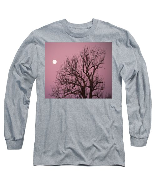 Long Sleeve T-Shirt featuring the photograph Moon And Tree by Sumoflam Photography