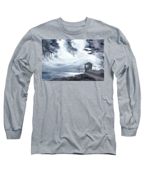 Long Sleeve T-Shirt featuring the painting Moon Light New by Anil Nene