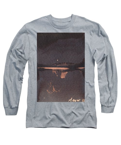 Moon Lit River Bank Long Sleeve T-Shirt