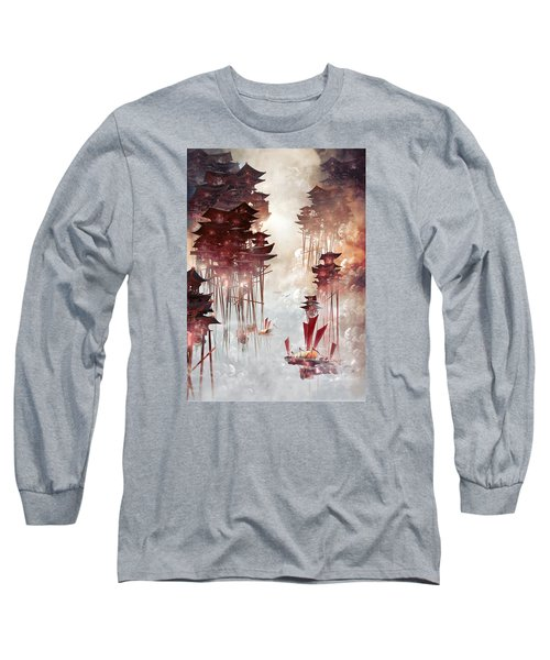 Moon Palace Long Sleeve T-Shirt by Te Hu