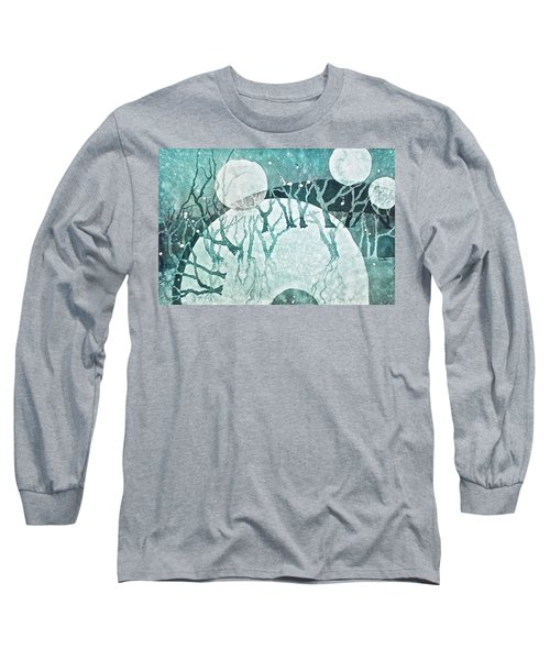 Long Sleeve T-Shirt featuring the painting Moon Shadows by Carolyn Rosenberger