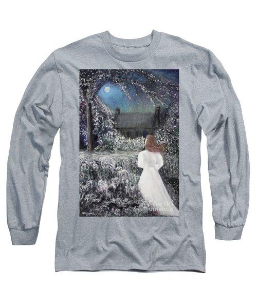 Moonlight Garden Long Sleeve T-Shirt by Lyric Lucas
