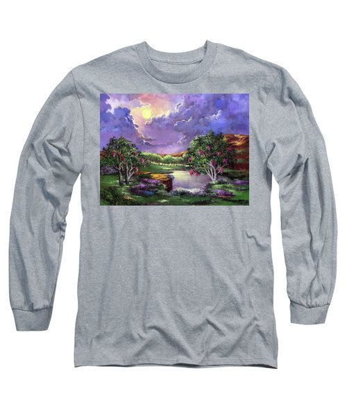 Moonlight In The Woods Long Sleeve T-Shirt