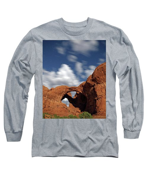Moonlight On Double Arch In Arches Np Long Sleeve T-Shirt