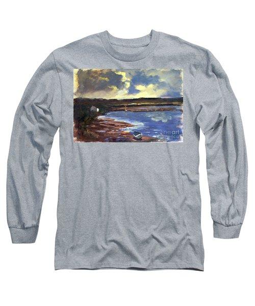 Moonlit Beach Long Sleeve T-Shirt by Genevieve Brown