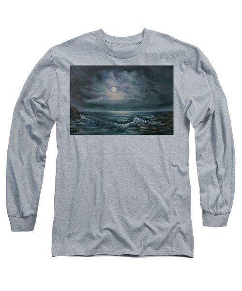 Moonlit Seascape Long Sleeve T-Shirt