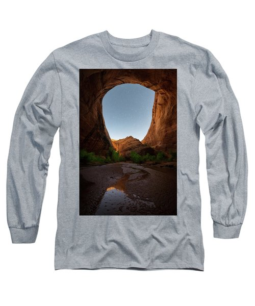 Moonrise At Coyote Gulch Long Sleeve T-Shirt by Dustin LeFevre