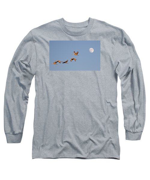 Moonrise Over Bosque Long Sleeve T-Shirt
