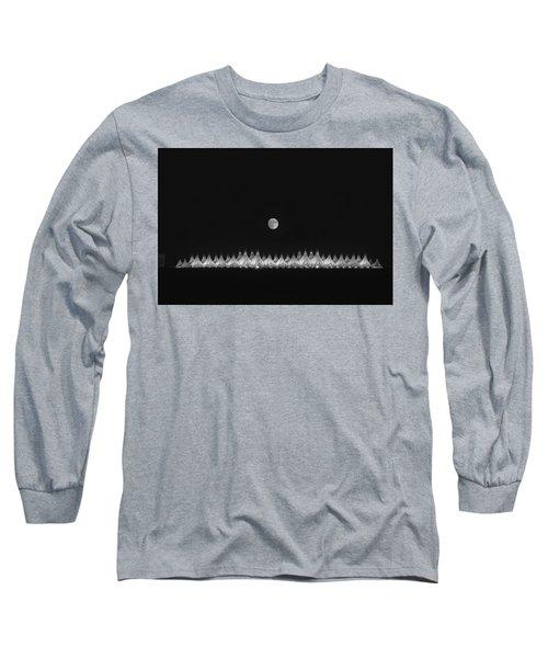 Moonset Over Dia Long Sleeve T-Shirt