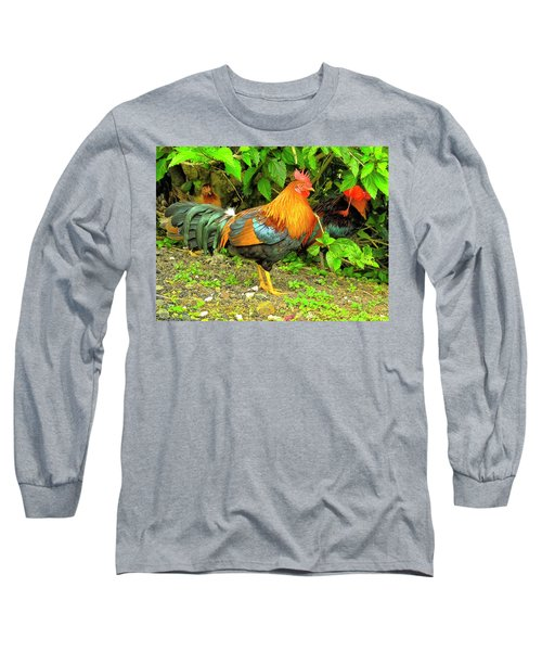 Long Sleeve T-Shirt featuring the photograph Moorea Chicken by Bill Barber