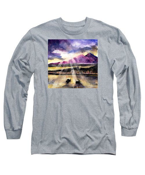 Mooring In Vancouver Tonight Long Sleeve T-Shirt by Randy Sprout