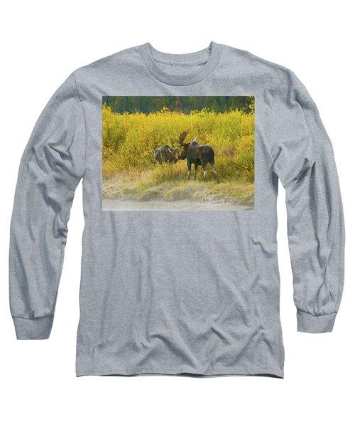 Moose Couple Long Sleeve T-Shirt