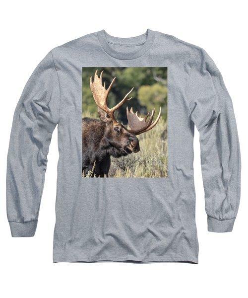 Moose Long Sleeve T-Shirt by John Gilbert