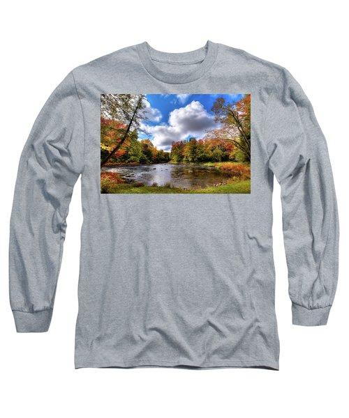 Moose River Near Scusa Road Long Sleeve T-Shirt by David Patterson