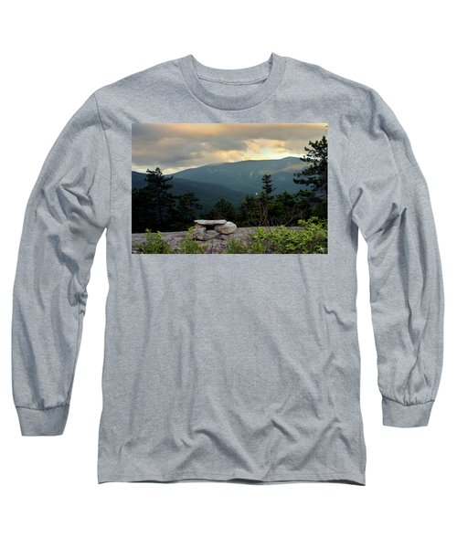Moosilaukee View From Bench On Blueberry Mt. Long Sleeve T-Shirt
