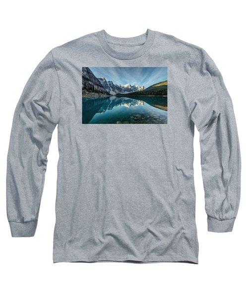 Moraine Lake Reflection Long Sleeve T-Shirt