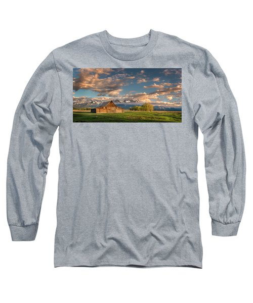 Mormon Row At Sunrise Long Sleeve T-Shirt