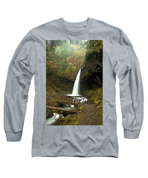 Morning At The Waterfall Long Sleeve T-Shirt