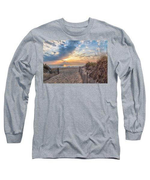 Morning Breaks Long Sleeve T-Shirt by David Cote