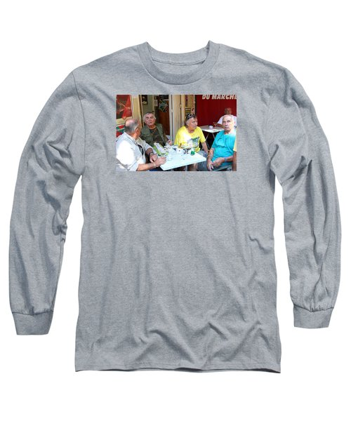 Morning Coffee Long Sleeve T-Shirt by Allan Levin