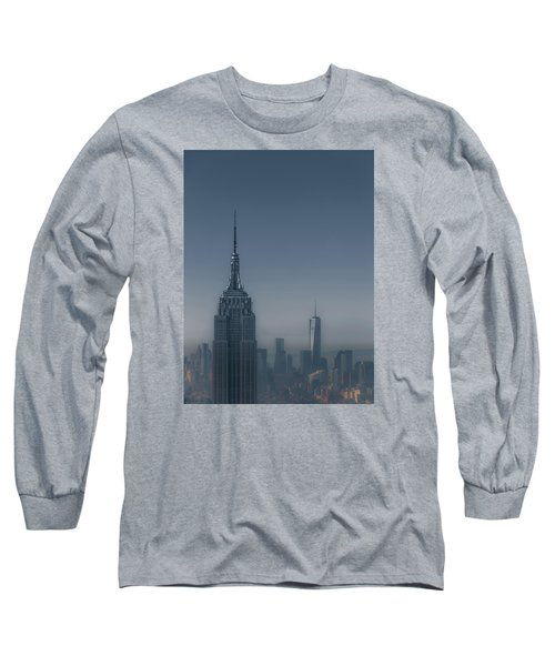 Morning In New York Long Sleeve T-Shirt by Chris Fletcher