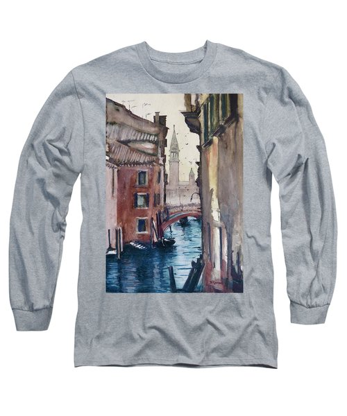 Long Sleeve T-Shirt featuring the painting Morning In Venice by Geni Gorani