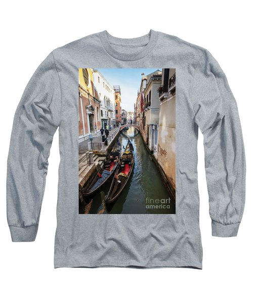 Morning In Venice In Winter Long Sleeve T-Shirt