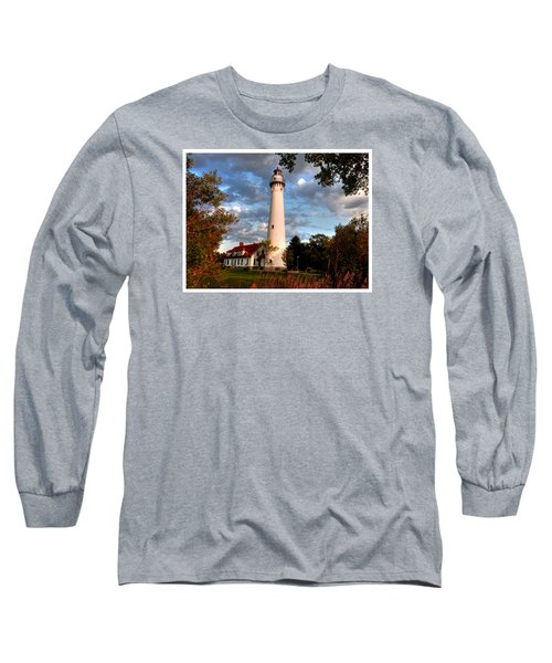 Long Sleeve T-Shirt featuring the photograph Morning Light On The Light by Janice Adomeit