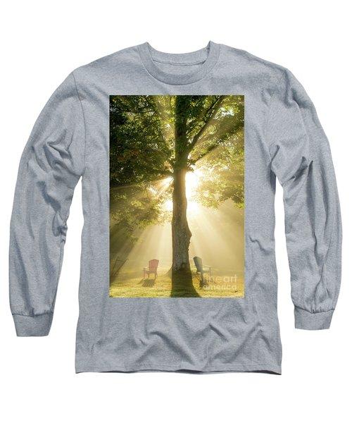 Morning Light Shining Down Long Sleeve T-Shirt by Alana Ranney