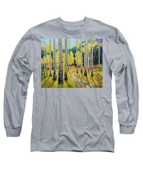 Morning Lights Of Aspen Trail Long Sleeve T-Shirt