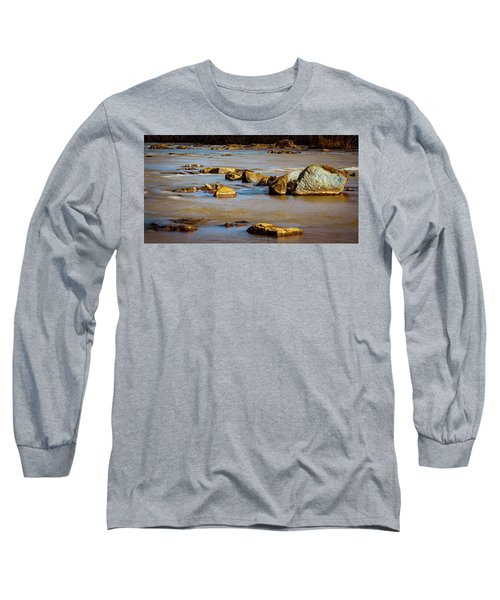 Morning On The Rocky River Long Sleeve T-Shirt