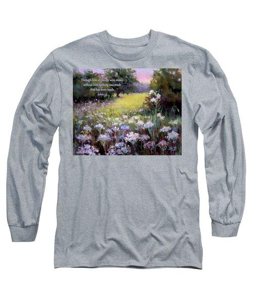 Morning Praises With Bible Verse Long Sleeve T-Shirt