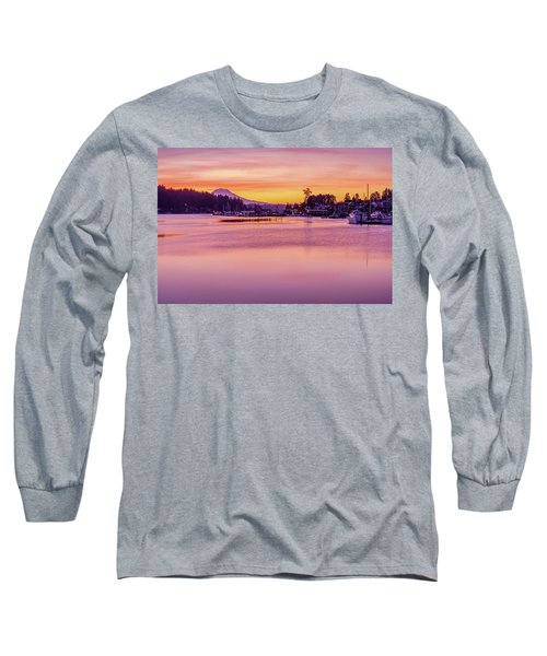 Long Sleeve T-Shirt featuring the photograph Morning Sunrise In Gig Harbor by Ken Stanback