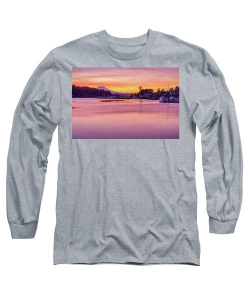 Morning Sunrise In Gig Harbor Long Sleeve T-Shirt