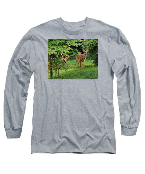 Long Sleeve T-Shirt featuring the photograph Morning Visitors by Rick Friedle