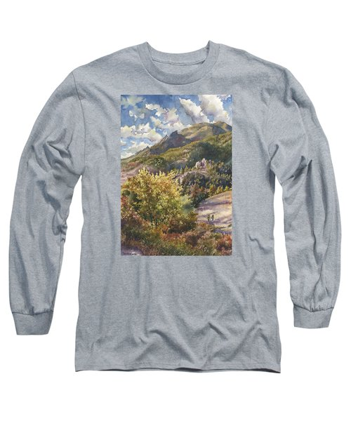 Morning Walk At Mount Sanitas Long Sleeve T-Shirt