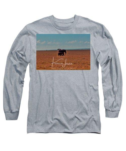 Long Sleeve T-Shirt featuring the photograph Morning Walk by Karen Lewis