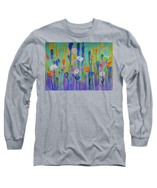 Morning Wildflowers Long Sleeve T-Shirt