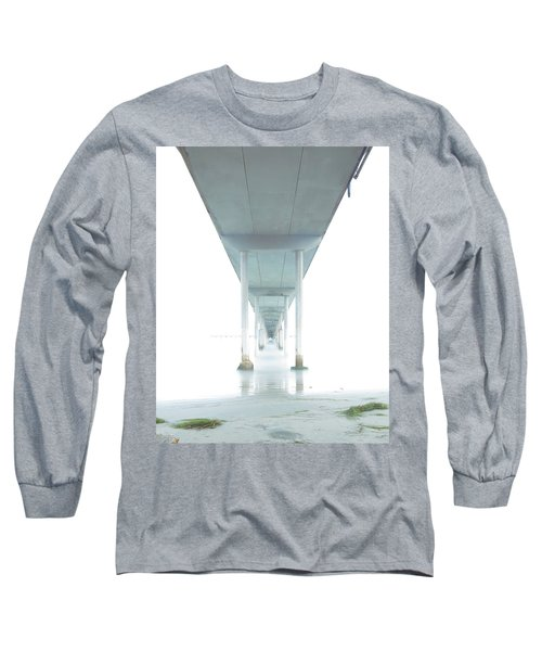 Long Sleeve T-Shirt featuring the photograph Mornings Underneath The Pier by James Sage
