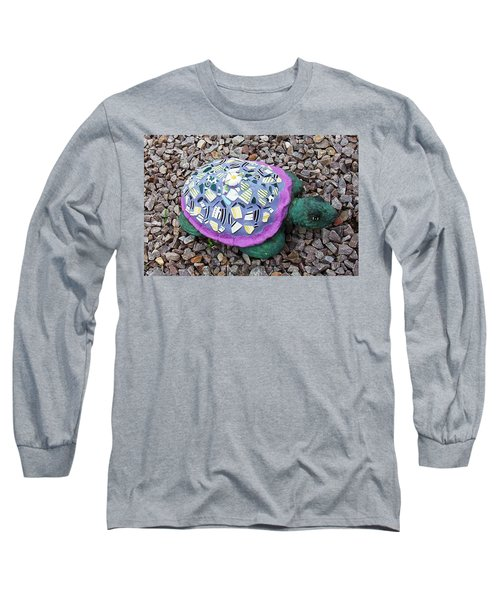 Long Sleeve T-Shirt featuring the ceramic art Mosaic Turtle by Jamie Frier
