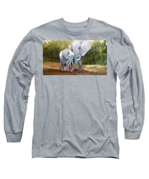 Mother Love Elephants Long Sleeve T-Shirt
