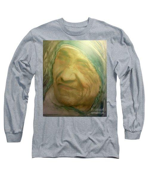 Mother Teresa Long Sleeve T-Shirt by FeatherStone Studio Julie A Miller
