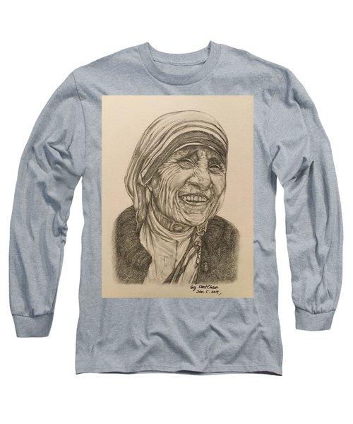 Mother Theresa Kindness Long Sleeve T-Shirt by Kent Chua