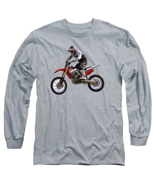 Motocross Long Sleeve T-Shirt by Scott Carruthers