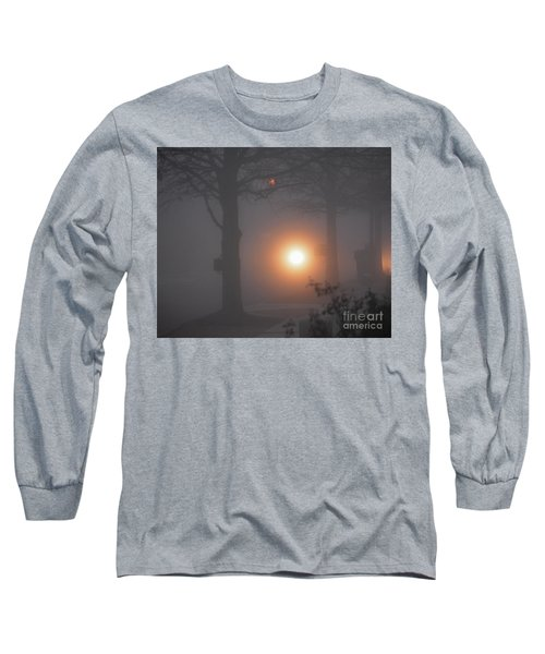 Motorcycle In The Fog In Loganville Georgia Long Sleeve T-Shirt